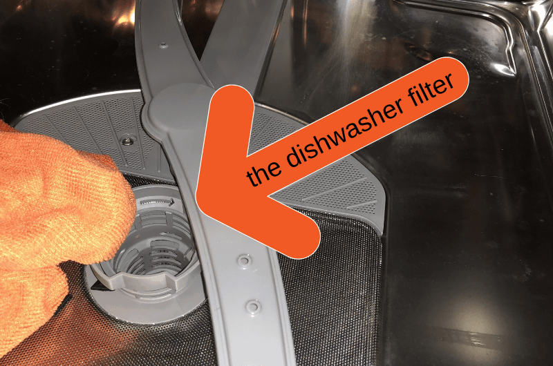 the dishwasher filter
