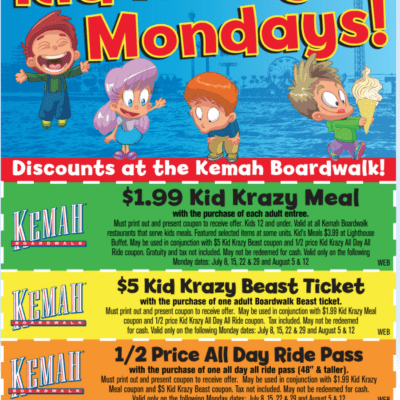 2021 Kemah Boardwalk Coupons and Deals – Houston Area Fun for Families
