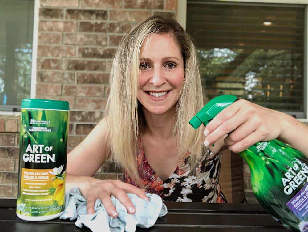 art of green cleaning products - non toxic cleaning table