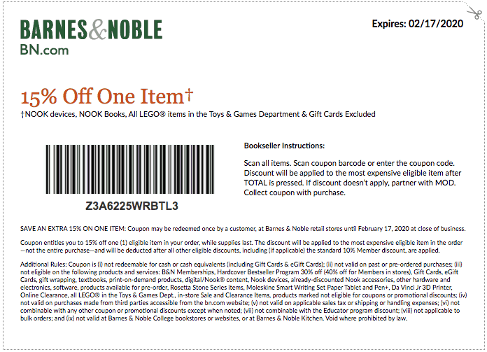 barnes and noble printable coupon february 2020 presidents day