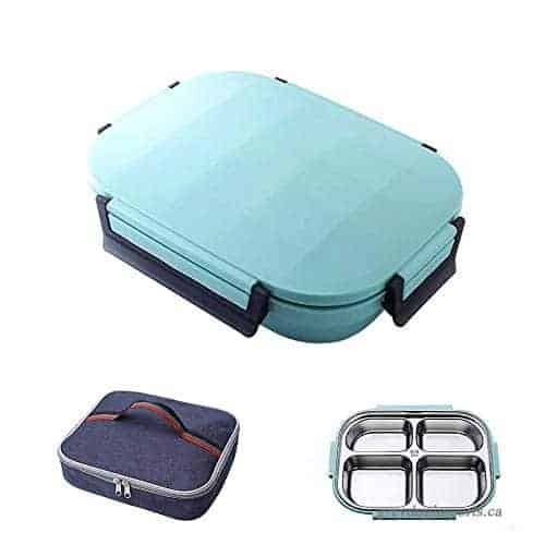 Bento Lunch Box for Kids Stainless Steel Leak Proof Lunch Container and Bag Set B07G93G5BC-500x500-product_popup