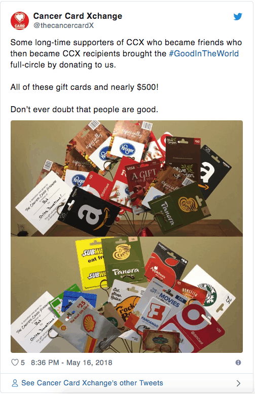 free gift cards for cancer patients