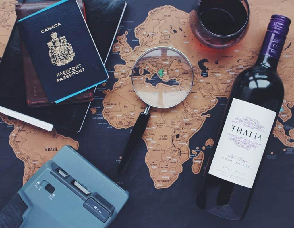 travel passport packing luggage