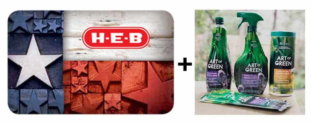 art of green and h-e-b gift card giveaway