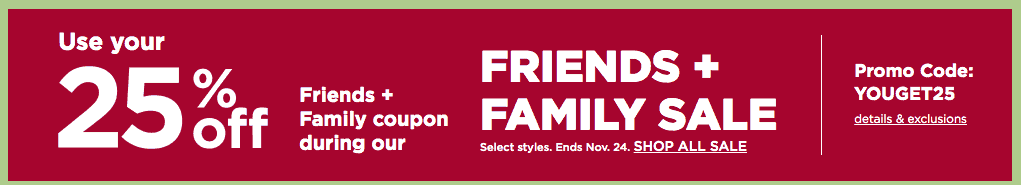 kohls coupon code friends and family 20 pecent off november 2019