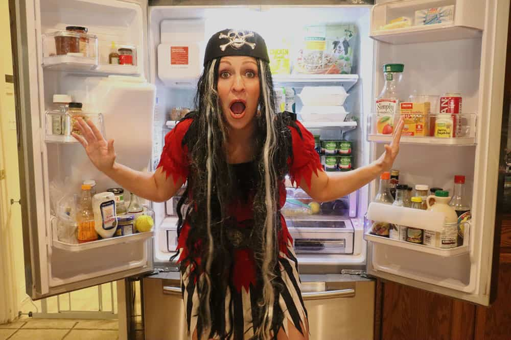rachel scared - messy refrigerator