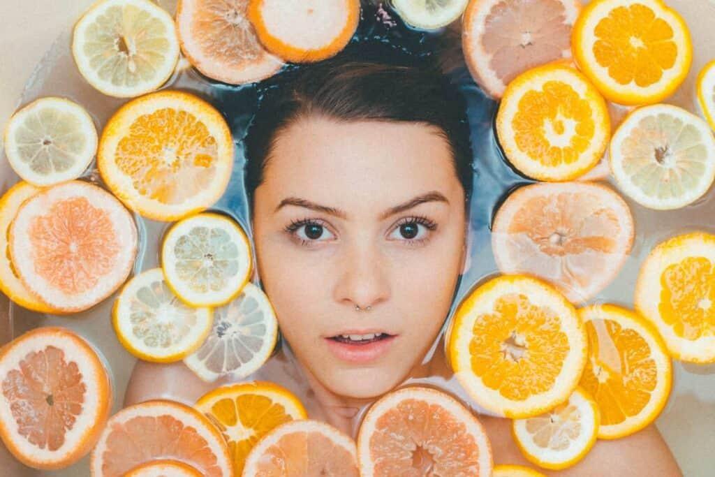 women skincare citrus lemons