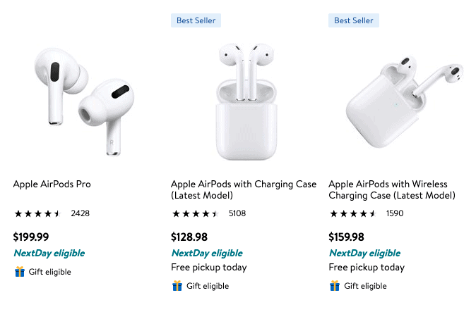airpods deal low prices at Walmart November 2020