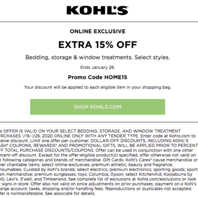 The Best Kohls Printable Coupons and Codes for 2020