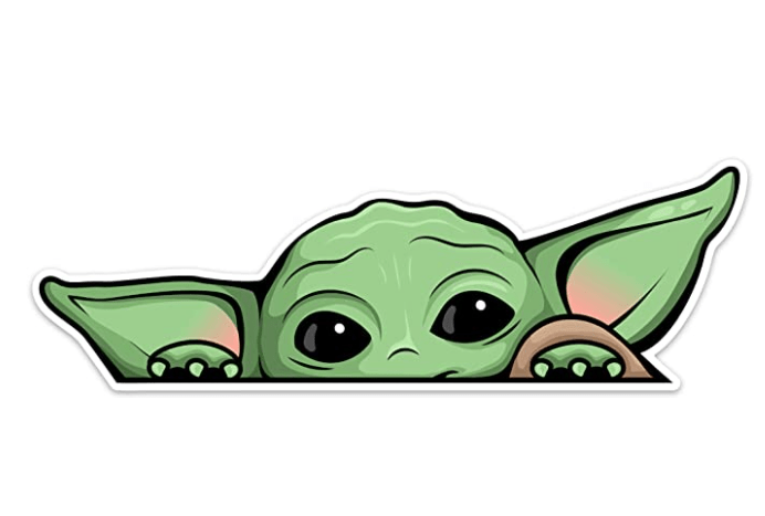 Peeking Baby Yoda Window Cling