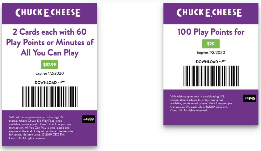printable chuck e cheese coupons december 2019