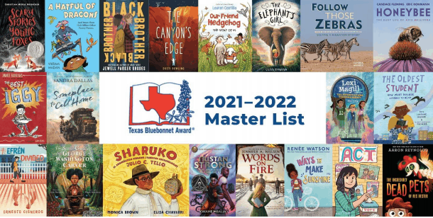 Texas Bluebonnet Books List for 2021-2022