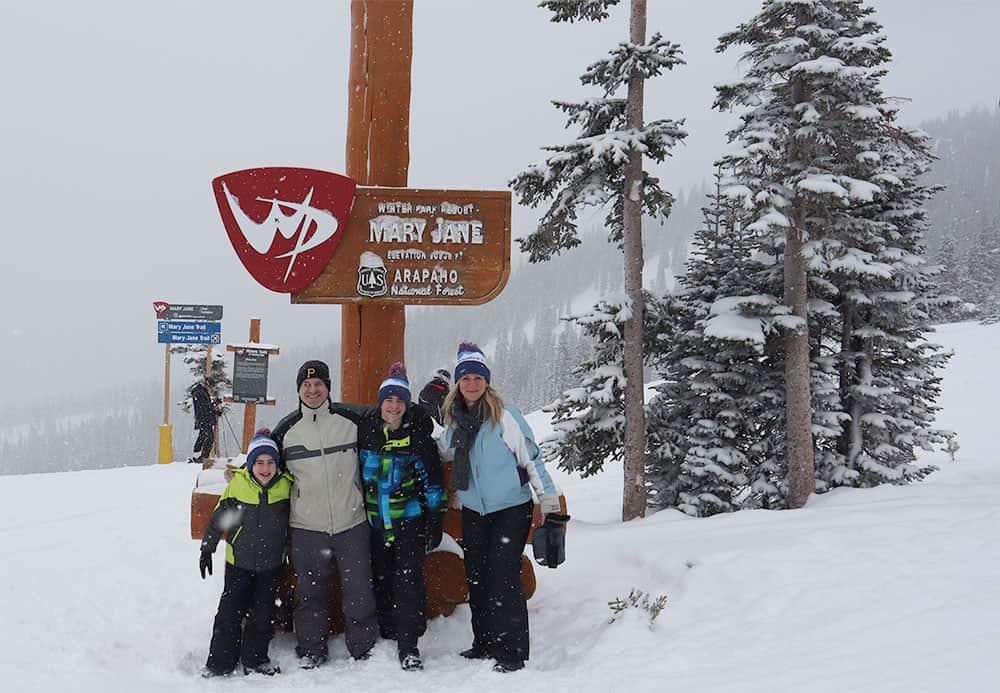 family ski trip to winter park colorado mary jane arapaho