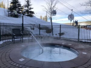 hot tub winter park ski resort snow gondola