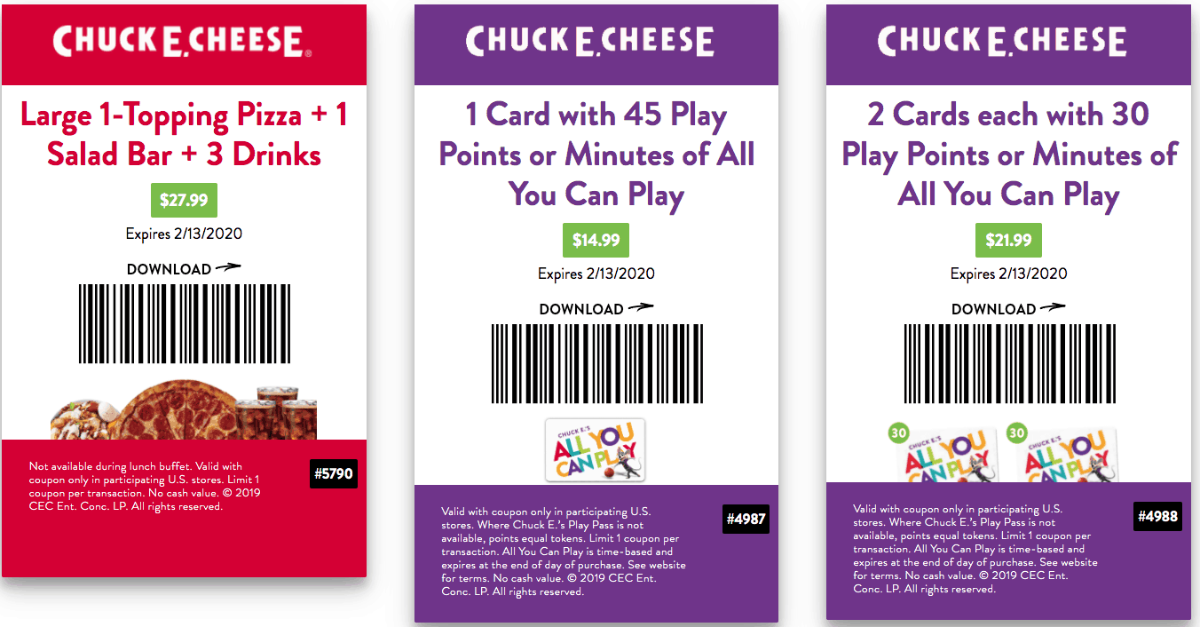 printable coupon chuck e cheese jan and feb 2020