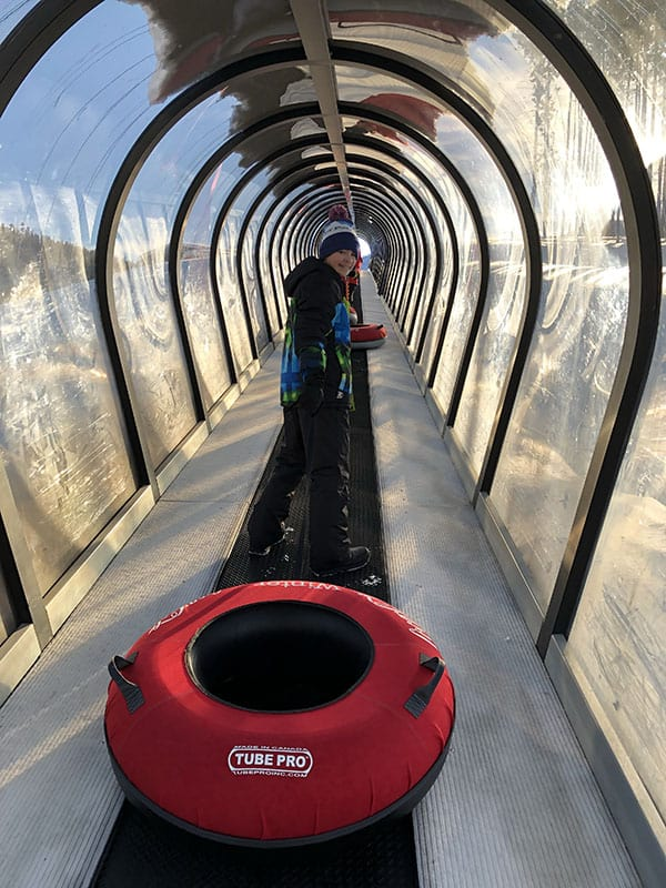 snow tubing tunnel winter park