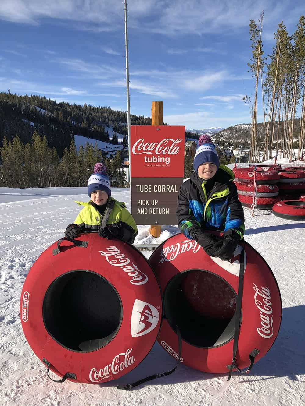 snow tubing winter park great for kids