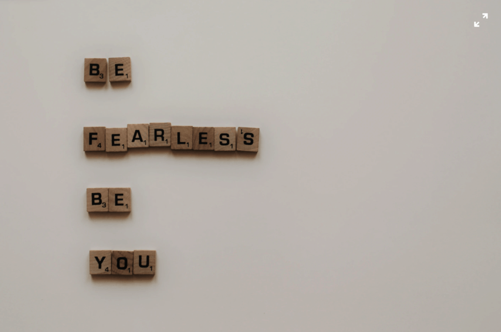 be fearless be you self esteem scrabble squares