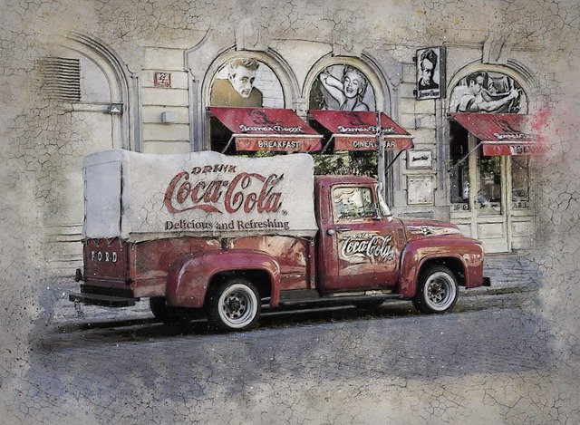prague-coca cola - coke truck