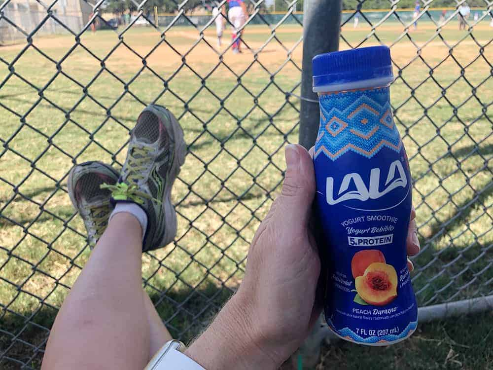 lala yogurt smoothies at the baseball game
