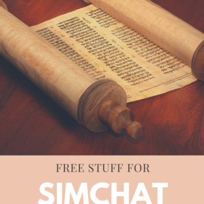 Free Stuff for Simchat Torah 2020