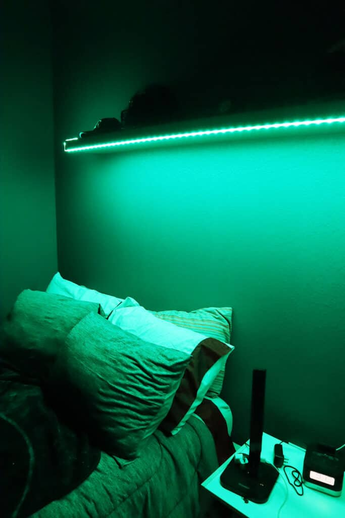 Geeni 9.8-Foot Color Changing Smart Prisma Light Strips from Batteries Plus in teen boys room_1
