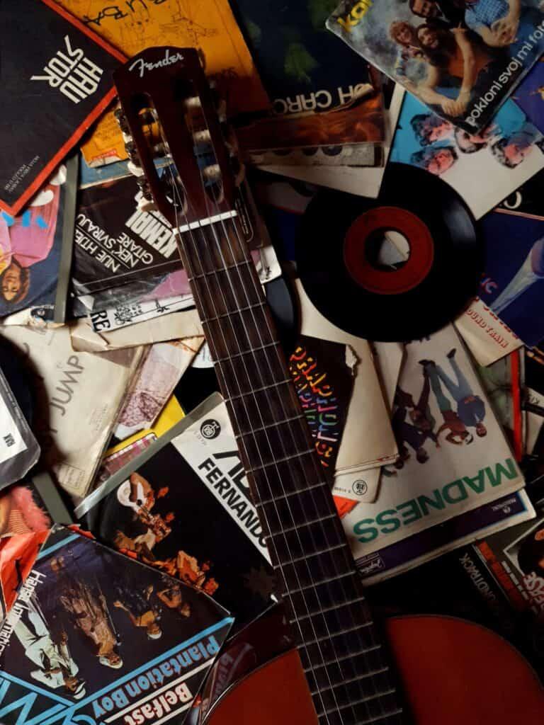 records vintage guitar