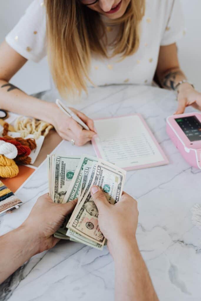 saving money bills