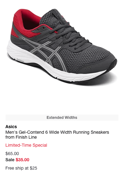 Men's Gel-Contend 6 Wide Width Running Sneakers from Finish Line