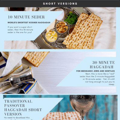 Passover Short Seders With Free Haggadahs Online (Updated for 2021)