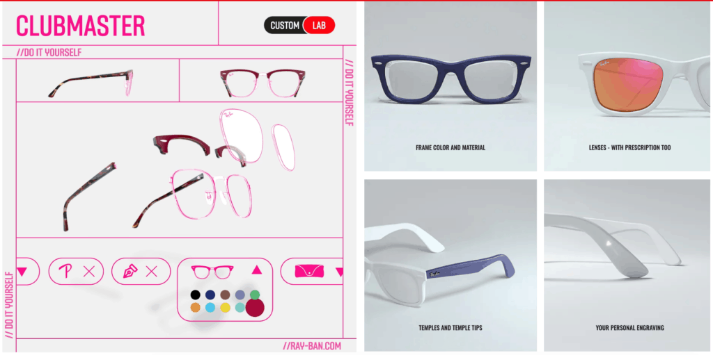 Personalize a Pair of Ray-Bans