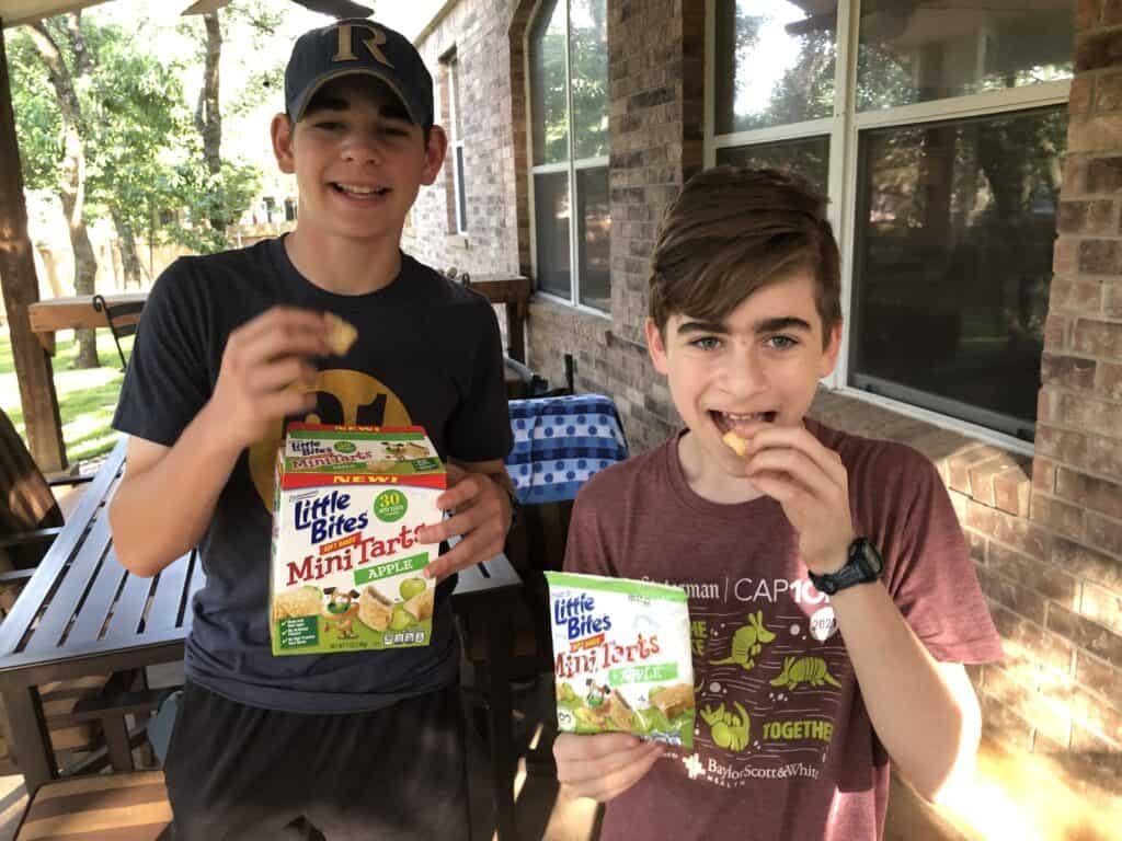 little bites mini tarts with teen boys