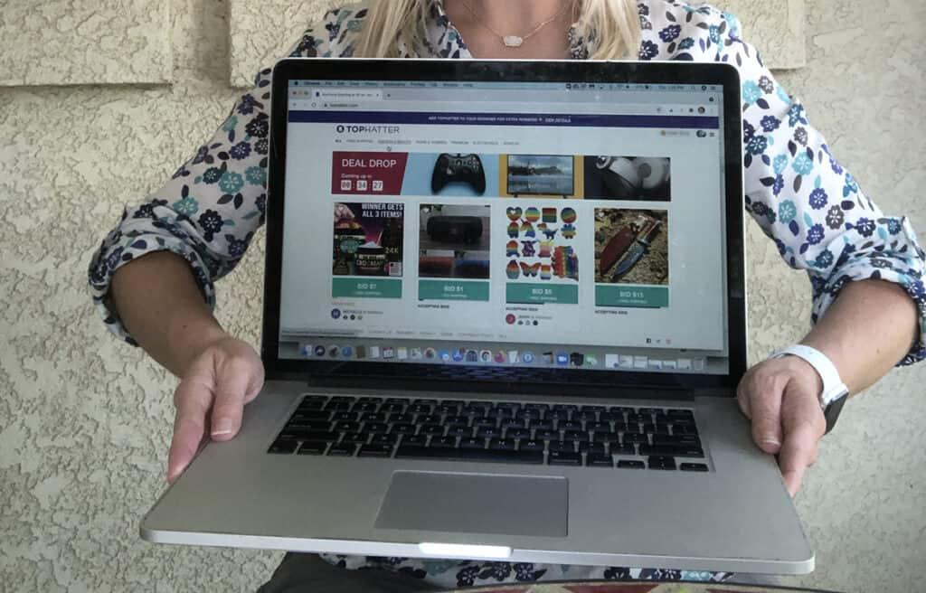 Tophatter digital marketplace, entertainment center, and money saving website