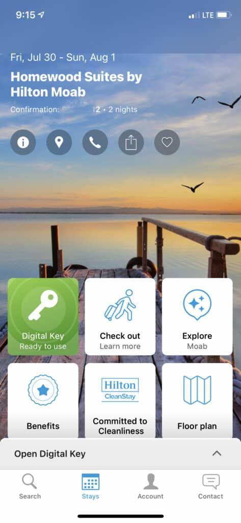 homewood suites by Hilton Moab Hilton Honor App Digital Key