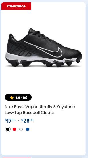 Nike Boys' Vapor Ultrafly 3 Keystone Low-Top Baseball Cleats
