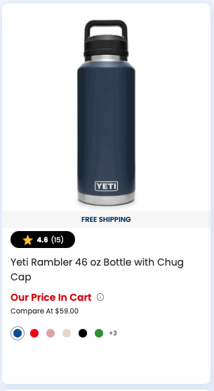 Yeti Rambler 46 oz Bottle with Chug Cap