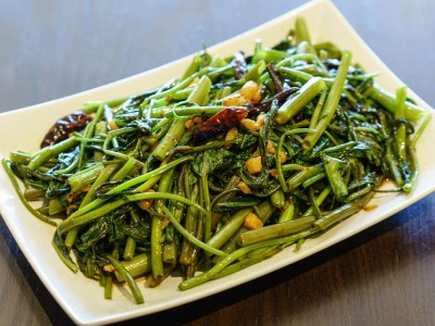 Morning Glory with Oyster Sauce