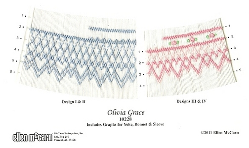 Geometric smocking design for bishop.