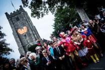 A crowd begins to gather, superheroes and citizens together... (© Simon Blackbourn)