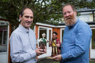 David Sproxton and Jim Parkyn from Aardman Animation