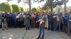 من بنسليمان فلسطيني يعبر بطريقته عن التضامن مع القدس