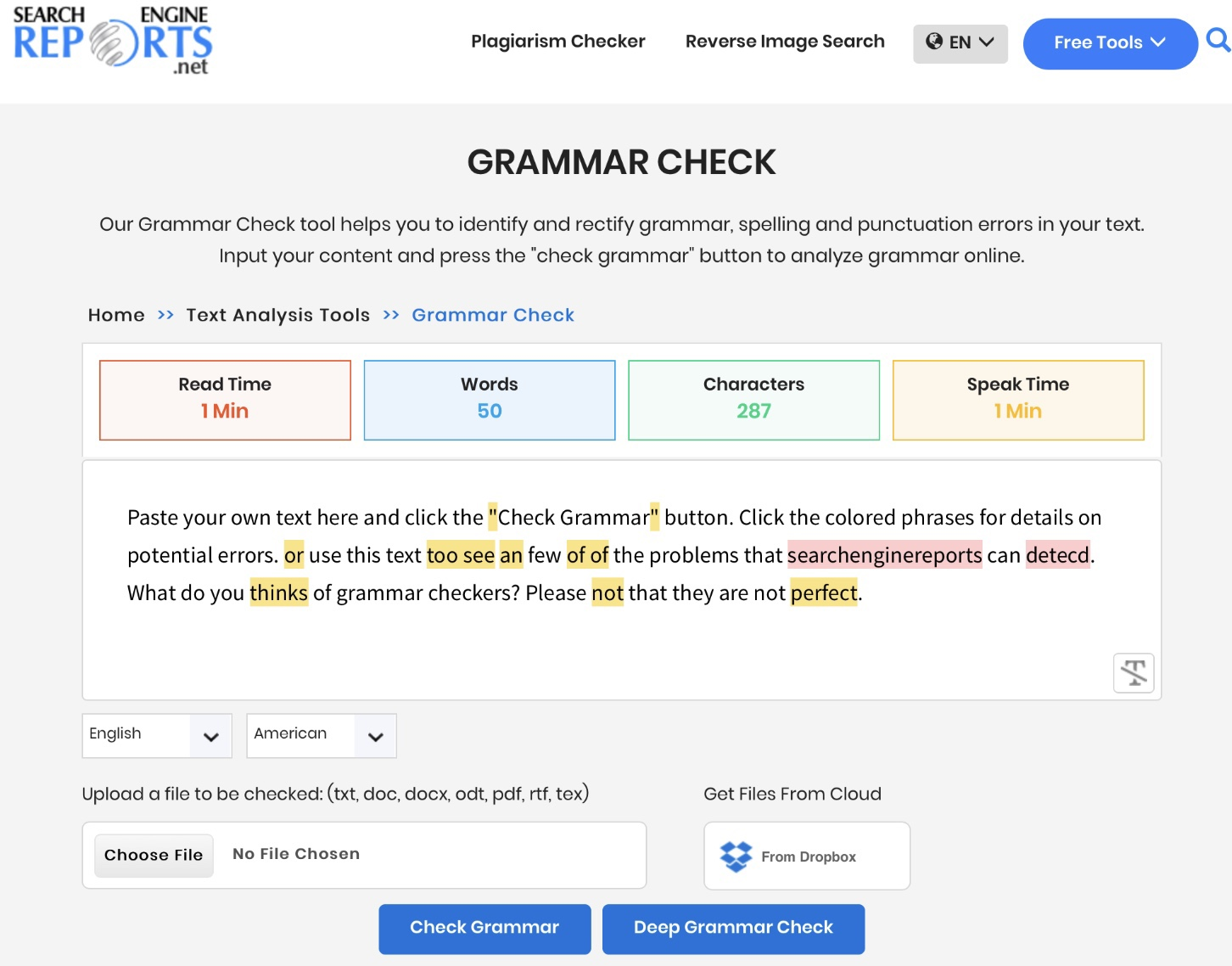 Grammer Plagiarism Checker Seo Tools