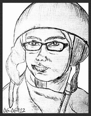 Gambar-Sketsa-Wajah-Cewek-Helm