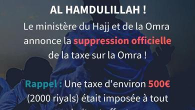 Photo of Annulation Taxe Omra
