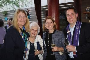 Vice Chancelier-Argentier Susan Verschoor, Frances Wireman, Amy Eddy, Chevalier Marcus Relthford