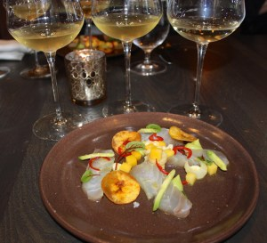 Florida Red Snapper Cerviche with 3 wine pairings