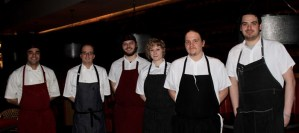 Chef Dan Stolz (second from left) and his kitchen staff