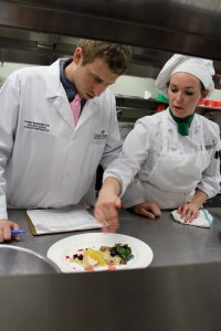 MCI Culinary Instructor Danny Bungenstock and Young Chef Katelyn Banks