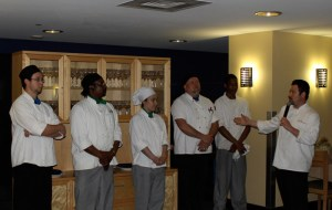 Chef de Cuisine Sean Kagy (right) and staff