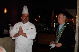 Chef Gaetano Williams and Bailli George Elliott
